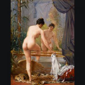 Fernand lematte jeune femme au bain 1341518385 org