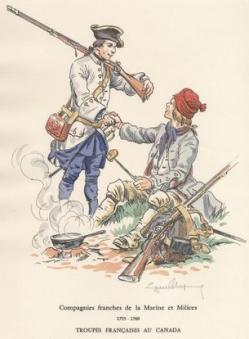 Soldats francais 1757